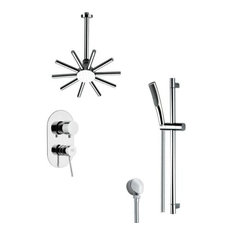 Nameeks SFR7089 Remer Double Handle Shower System Faucet, Chrome