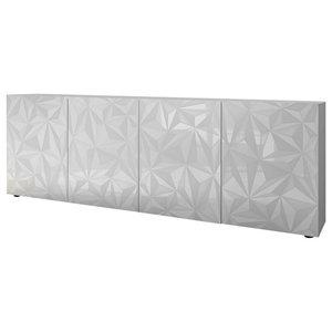 Prisma II Decorative Sideboard, 241 cm, White