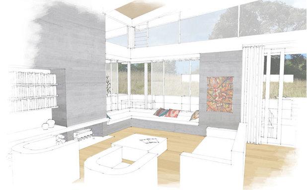 Contemporary Interior Elevation by Sills van Bohemen Architects