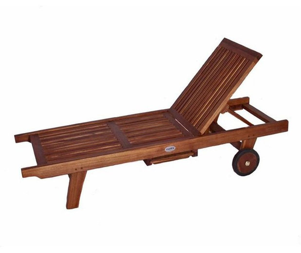 Epic Contemporary Patio Furniture And Outdoor Furniture JazTy Kids Teak Lounge Chair with Sliding Tray Multicolor