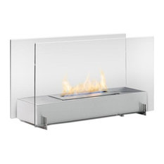 Eco-Feu Vision I Biofuel Fireplace in Stainless Steel