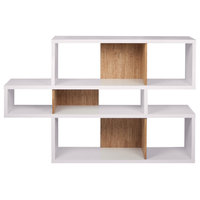 TemaHome London 001 Composition Bookcase   Pure White Frame, Cork Backs