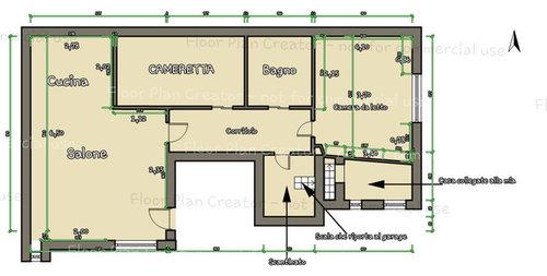 piantina casa con misure