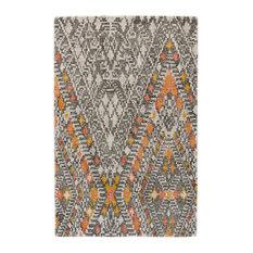 Weave & Wander Binada Rug, Tangerine, 2'x3'