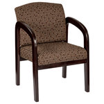 OSP Home Furnishings - Mahogany Wood Visitor Chair, Cocoa - Update your business office d'cor while providing guests with comfortable seating with this Mahogany finished chair. A thick padded seat and backrest intelligently constructed with a high quality foam, this delightful office chair provides you and your guests the best in lumbar support for ideal posture & relaxation. Upon arriving at your home or place of business, this chair is easily and quickly put together as assembly requires no tools! Easy to get in and out of, this chair is comfortable, looks great, and is an overall great value that you and your guests will enjoy for years to come. Combine all this with the 15 year limited warranty, you have peace of mind in knowing that this product is confidently backed as it is designed & built to last.