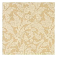 Beige And Ivory Leaves Outdoor Indoor Marine Upholstery Fabric By The Yard