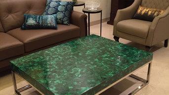 Malachite table top