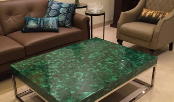 Malachite table top