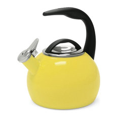 Chantal 40Th Anniversary 2-Quart Enamel On Steel Teakettle, Canary Yellow