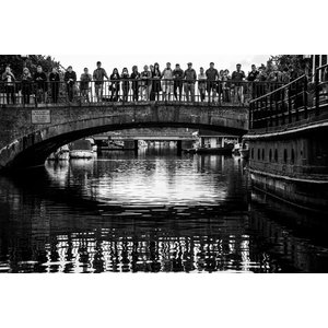 Copenhagen Canal Black and White Fine Art Print, 75x50 cm