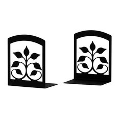 Wrought Iron Leaf Fan Book Ends, Set