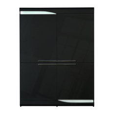 Ovio 4-Door Storage Unit, Black High Gloss