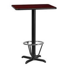 Flash Furniture 24-inch X 30-inch Laminate Top Pub Table In Mahogany
