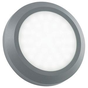Severus Round Direct IP65 2 W Outdoor Light, Grey