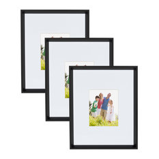 """Kate and Laurel Calter Wall Picture Frame Set, Black, 16""""x20 Matted To 8""""x10"""""""