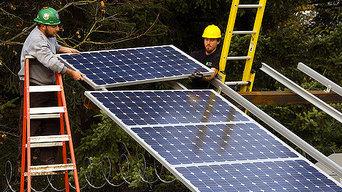 Solar Buffalo panel installation