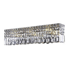 Rebel 3-light Chrome Wall Sconce Clear