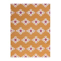 Zara Southwestern Orange Flat-Weave Rug 5'x8'