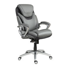 serta by true innovations serta air executive office chair gray bonded leather office chairs