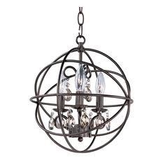 Maxim Orbit 3-Light Oil Rubbed Bronze up Chandelier