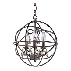 Maxim Orbit 3-Light Oil Rubbed Bronze up Chandelier