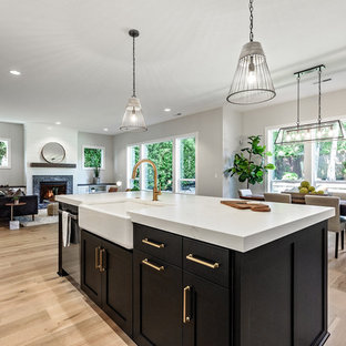 Inspiration for a farmhouse home design remodel in Portland