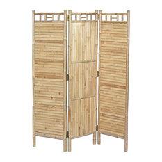 3-Panel Flat Bamboo Screen