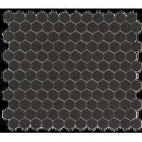 "10.2""x11.8"" Unglazed Porcelain Mosaic London Hexagon Dark Gray, Set of 10"