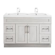 Classic 2-Door 4-Drawer Vanity With Top, Double Sink, Meadows Cove