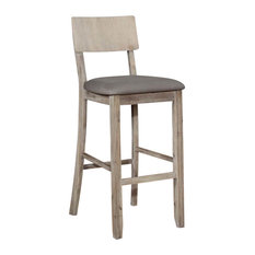 Jordan Gray Wash Counter Stool, Gray