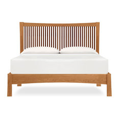 Berkeley Platform Bed: Natural Cherry with Walnut Accents, Natural Cherry, Queen