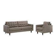 Modern Granite Empress Armchair And Sofa 2-Piece Set