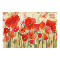 """Liora Manne Illusions Poppies Indoor/Outdoor Mat Red, 23""""x59"""""""