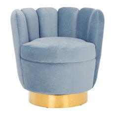 Safavieh Arrow Channel Tufted Chair Light Blue