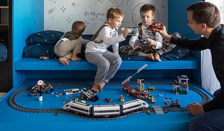 Проект недели: Космическая детская для троих братьев