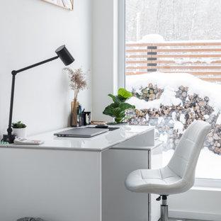 Пример оригинального дизайна: кабинет в скандинавском стиле