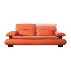Burnt Orange Leather Sofas | Houzz