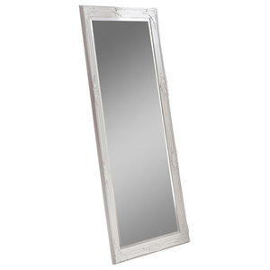 Florence Leaning Wall Mirror, White, 74x163 cm
