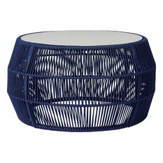 Volta Cocktail Table, Blue Cord