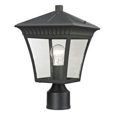 Ridgewood 1-Light Outdoor Post Lamp, Matte Textured Black