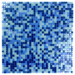 """GBM Manufacturing - Galaxy Blue Uranus Glass Mosaic Tile Straight, 11.7""""x11.7"""" Sheets, Set of 20 - The Galaxy Collection is our most vivid array of vibrant glass mosaic tiles. Popular in kitchens, bathrooms, showers, and pools, these tiles are admired amongst those looking for a flash of color in their living spaces. Made to last, the Galaxy Collection is durable and ready for indoor or outdoor use."""
