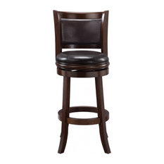 29-inch Augusta Swivel Stool [Cappuccino With Dark Brown Pu]