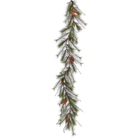 """6'x13"""" Big Fork Pine Garland With Cones"""