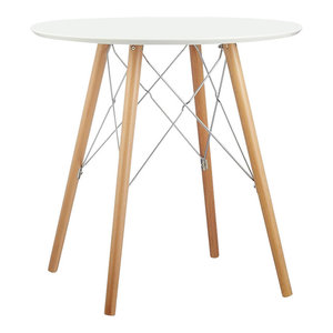 Contemporary Dining Table, Nordic Design, White