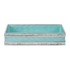 """Classic 9"""" Guest Towel Tray, Aqua"""