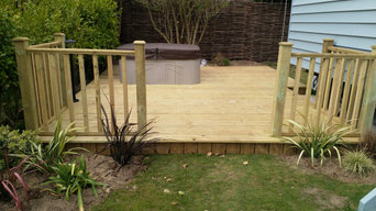 Landscaping,planting and turfing around New sheppards Huts on a Holiday park