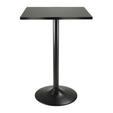 Winsome   Winsome Pub Table Square Black Mdf Top With Black Leg And Base    Indoor