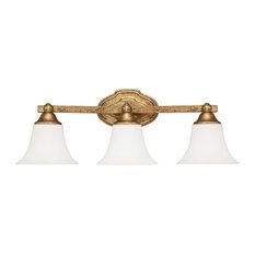 Capital Lighting Fixture Company Blakely 3 Light Bathroom Vanity Lights Antique Gold