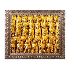 "Philippe Hugonnard 'Longhua Temple' Ornate Framed Art, 14""x11"""