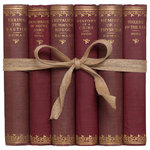 Booth & Williams - Vintage Merlot French Literary Gift Set - Features a blend of six authentic vintage books published in 1903. Includes a variety of French Literary Classics written by Hugo and Dumas. Beautifully blended in shades of vintage merlot. Highlighted titles include: Memoirs of a Physician, Hunchback of Notre Dame and more. Light age appropriate wear suitable for reading and book décor. Standing at the timeless intersection of vintage and vogue is Booth & Williams - proudly offering distinctive vintage and modern book decor to homeowners and designers! Shop our beautiful decorative books, including vintage coffee-table books, curated collections of old books and a large selection of modern book decor, including our best-selling Vintage and Modern ColorPaks and Book Walls!